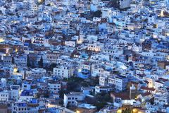 Night view of Chechaouen Stock Photos