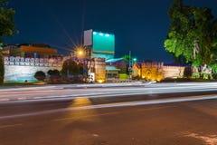 Night view Chiang Mai gate. Night view Chiang Mai gate,Chiangmai,Thailand Stock Images