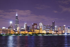 Night view Chicago Royalty Free Stock Photos