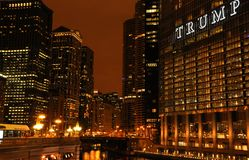 Night view of Chicago royalty free stock photography