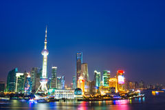 Night view of China shanghai Stock Images