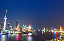 Night view of China shanghai Stock Photo