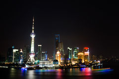 Night view of China shanghai Stock Image
