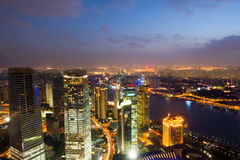 Night view of China shanghai Stock Photography