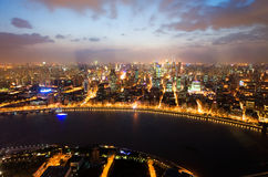 Night view of China shanghai Royalty Free Stock Images