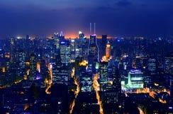 Night view of China shanghai Stock Photo