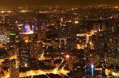 Night view of China shanghai Stock Photos