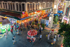 Night view of China Town in Singapore Royalty Free Stock Images