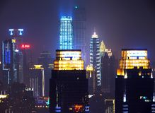 The night view of Chongqing stock image