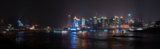 The night view of chongqing, China Royalty Free Stock Photo