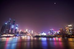 Night view of chongqing city royalty free stock photo