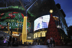 Night view of Christmas Decoration at Singapore Orchard Road Stock Image