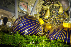 Night view of Christmas Decoration at Singapore Orchard Road Stock Images