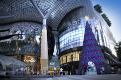 Night view of Christmas Decoration at Singapore Orchard Road Stock Photo