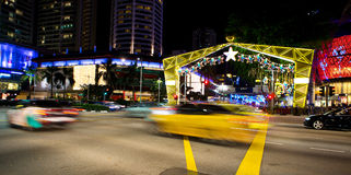 Night view of Christmas Decoration at Singapore Orchard Road on November 19, 2014 Stock Photo