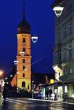 Night view of Church in Graz Royalty Free Stock Photos
