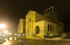 Night view of Church of the Holy Trinity. Segovia Stock Photos