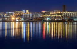 Night view for the Churkin cape in Vladivostok Royalty Free Stock Photography