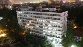 Night view of city. Night view of developing city in Wuhan of China Stock Photography
