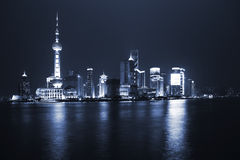 Night view of city Stock Images