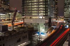 Night view of city Stock Photography