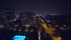 Night view of the city of Chicago stock video