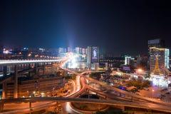 Night view of city,chongqing,china Stock Images