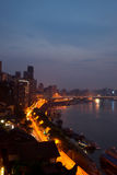 Night view of city,chongqing,china Stock Images