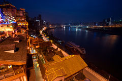 Night view of city,chongqing,china Stock Image