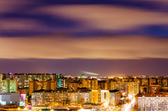 Night view of the city from a height Royalty Free Stock Photography