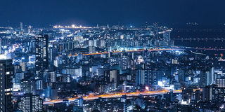 Night view of the city Royalty Free Stock Photo