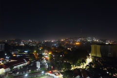 Night view of the city of Kampala Stock Photography