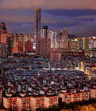 Night view of city landscape in Shenzhen China Royalty Free Stock Photos