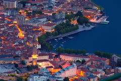 Night view of the city Lecoo. Stock Photo