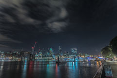 Night view of the city of london Stock Photo