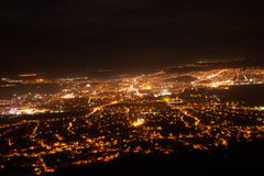 Night view of the city of Nitra Royalty Free Stock Image