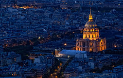Night view of the city. Paris Stock Images
