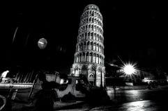 Night view of city of Pisa III royalty free stock photos