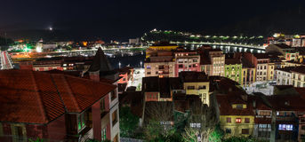 Night view of the city of Ribadesella Royalty Free Stock Photo