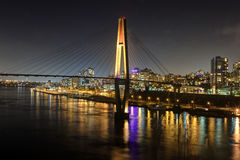 Night view of a city by a river Stock Photography