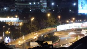 Night view of city roads stock video footage