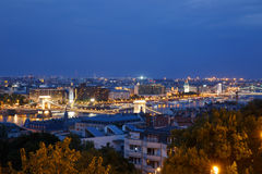 Night view of the city side of Pest. Budapest Royalty Free Stock Photography