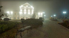 Night view city of Ternopil Stock Photo