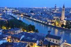 Night view of the city of Verona. Italy Royalty Free Stock Images