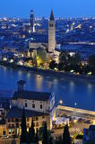 Night view of the city of Verona Royalty Free Stock Photography