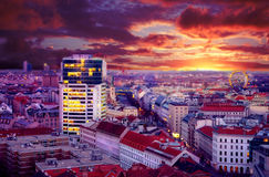 Night view of city Vienna Stock Photo