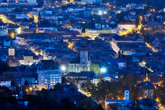 Night view cityscape with city lights Stock Photography