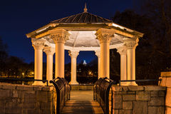 Night view of Clara Meer Gazebo, Atlanta, USA. Night view of illuminated Clara Meer Gazebo in the Piedmont Park, Atlanta, USA Stock Photo