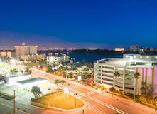 Night view of clearwater royalty free stock photography