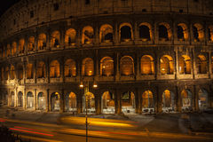Night view Coliseum in Rome italy Royalty Free Stock Photo